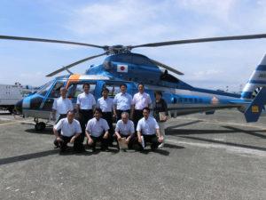 文教警察委員会の県警航空隊を視察